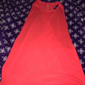 Adidas bright coral tank top